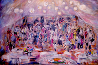 wedding reception painting