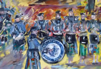 live event painting mass state police pipes and drums