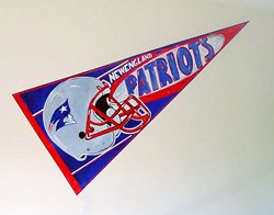 New England Patriots banner pennant